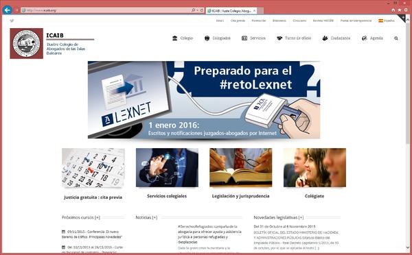 El portal web colegial, de estreno