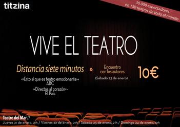 """JUSTICIA Y TEATRO.- Oferta especial a colegiados para asistir a la representación de """"Distancia siete minutos"""""""
