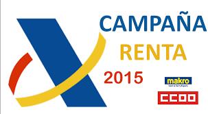 Renta 2015.- A partir del día 6 de abril se pueden presentar las declaraciones con el carnet colegial