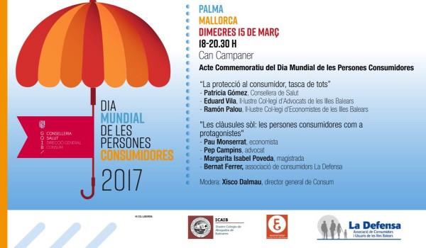 15/03/2017.- Día del Consumidor: mesa redonda sobre cláusulas suelo