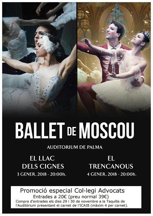 Importante descuento para el espectáculo del Ballet de Moscú
