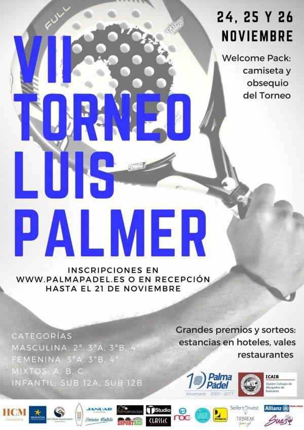 """VII Torneo de Pádel """"Luis Palmer"""""""