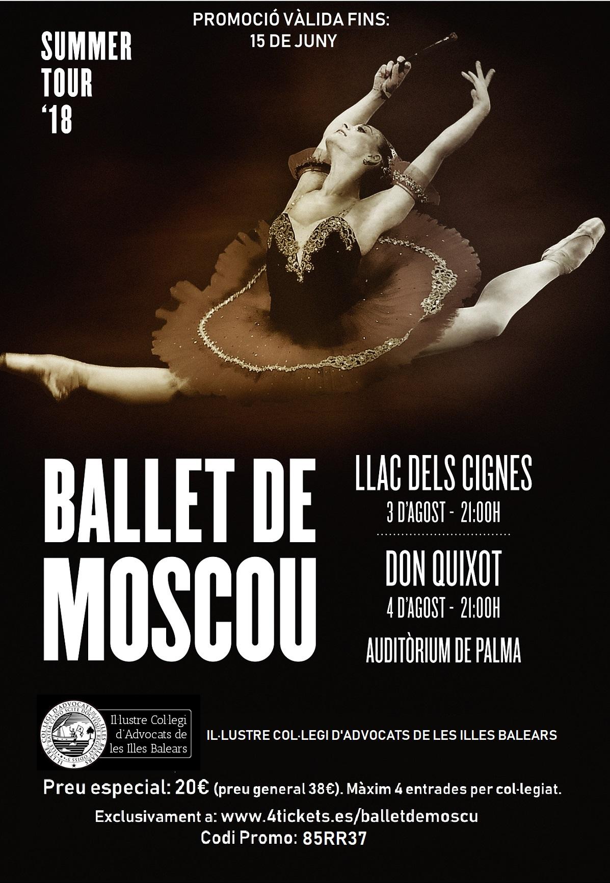Nueva oferta de importantes descuentos para las próximas actuaciones del ballet de Moscú en Palma