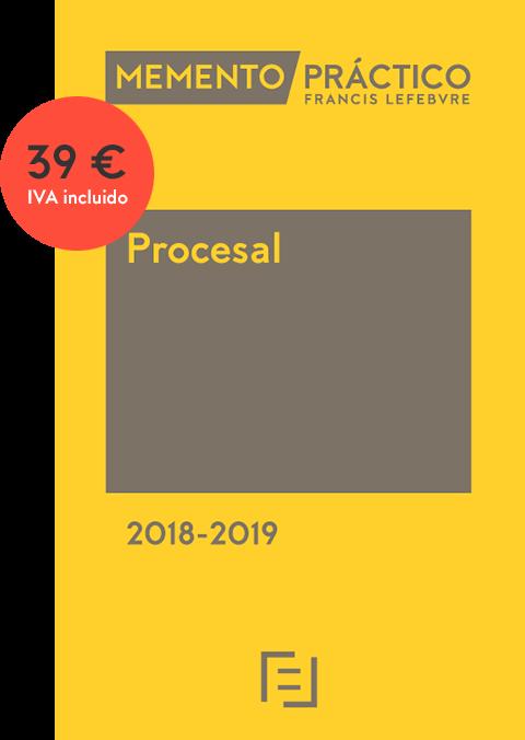 Oferta para colegiados: ampliación de plazo y contenido y precio especial de adquisición del Memento Procesal 2018-2019