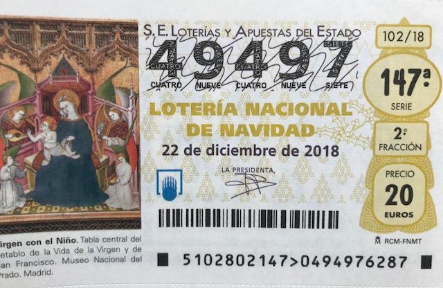 49497: ¿Y si es este el número del Gordo de Navidad?