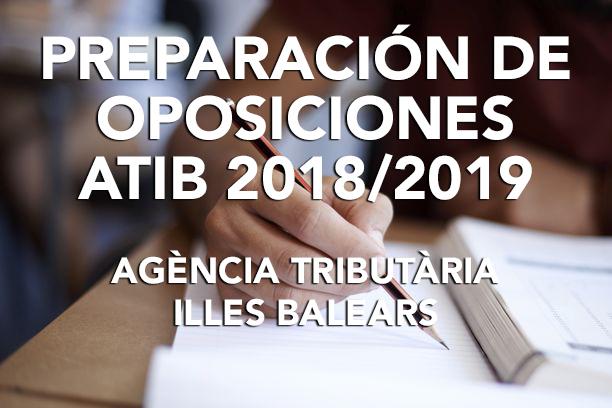 Oferta especial para colegiados en preparación de oposiciones a la ATIB