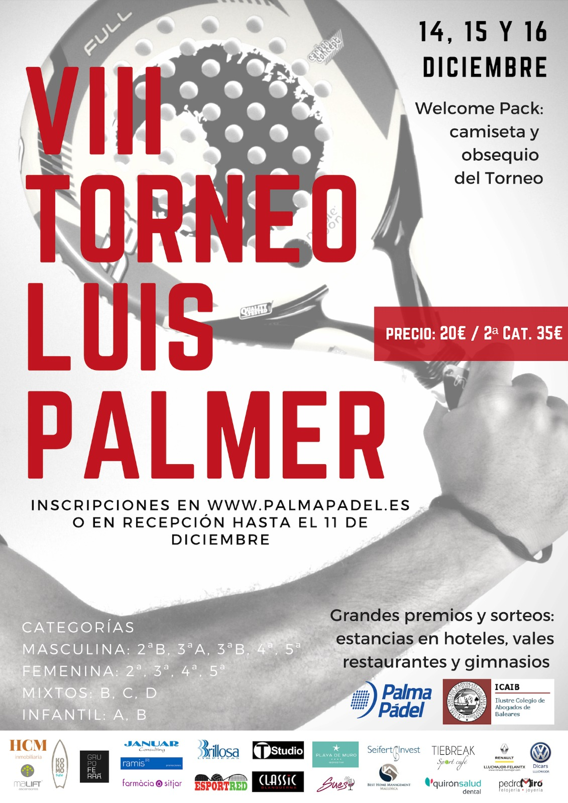 VIII Torneo de Pádel Luis Palmer Cabrinetti