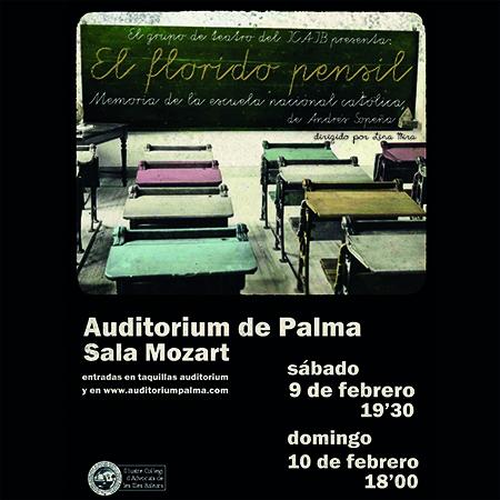 """9 y 10 de febrero, cita con el teatro. Últimos días de compra de entradas para la representación de «El florido pensil"""" por el grupo de teatro del ICAIB"""
