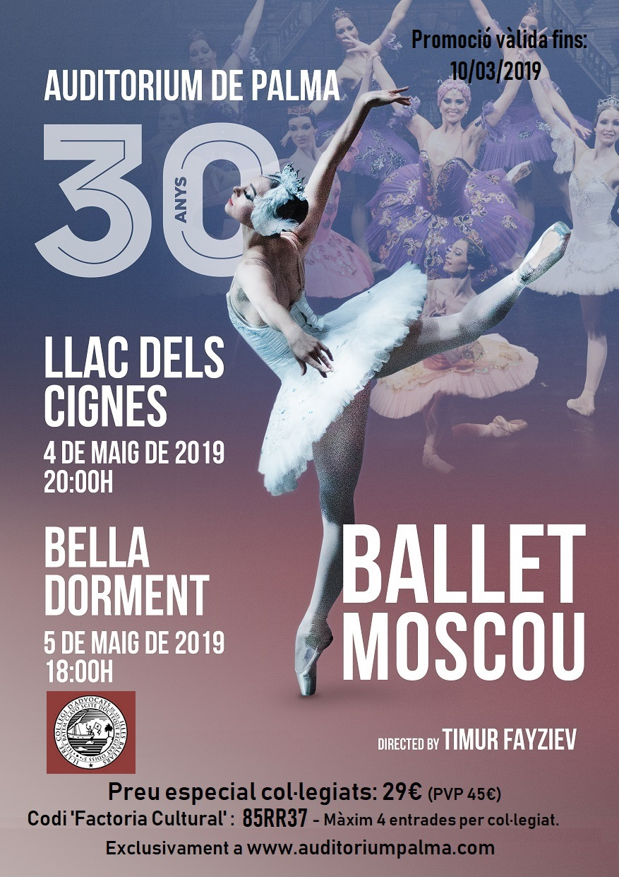 Oferta per a la gira de primavera del ballet de Moscú