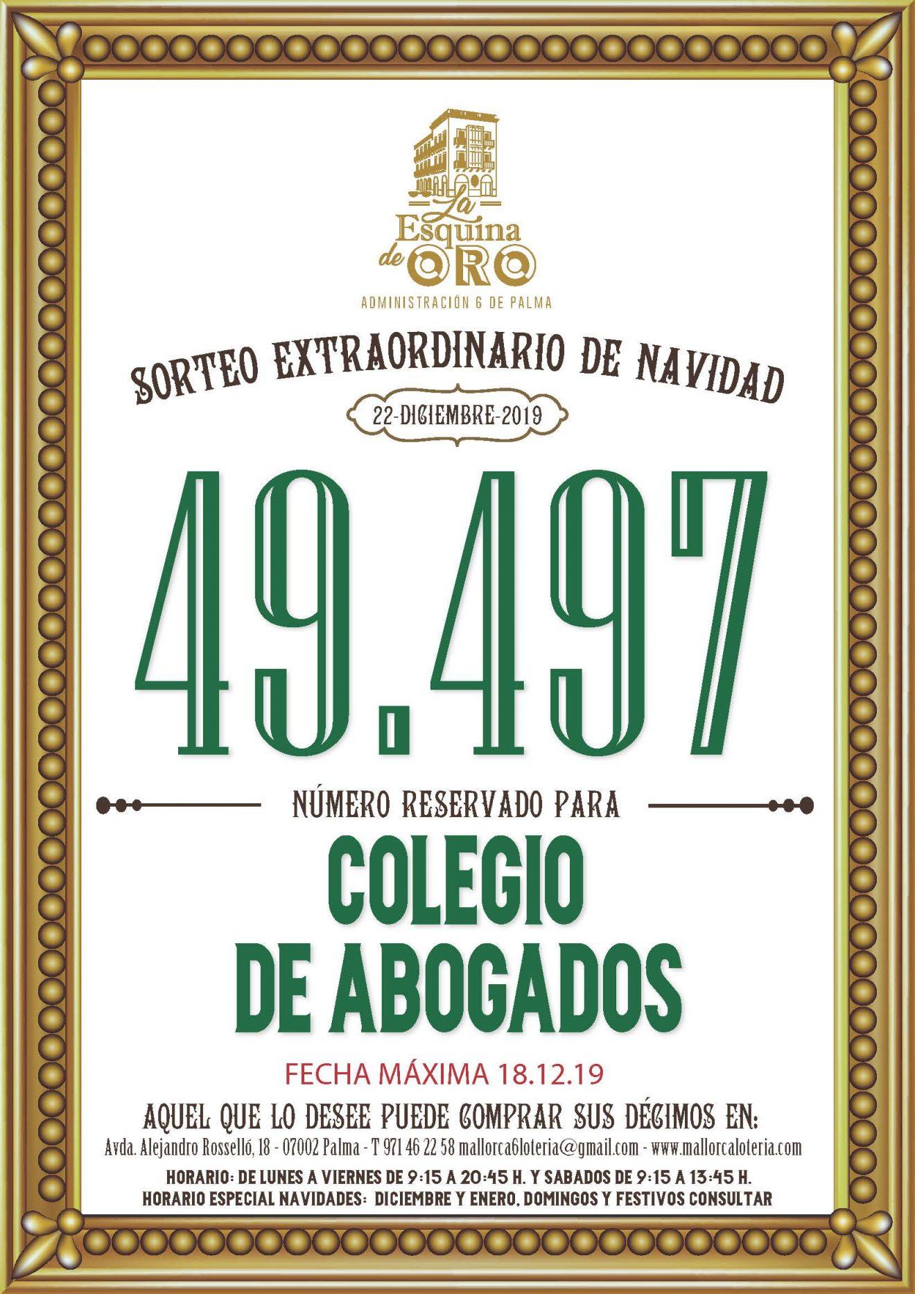 49497, el número de la suerte del ICAIB