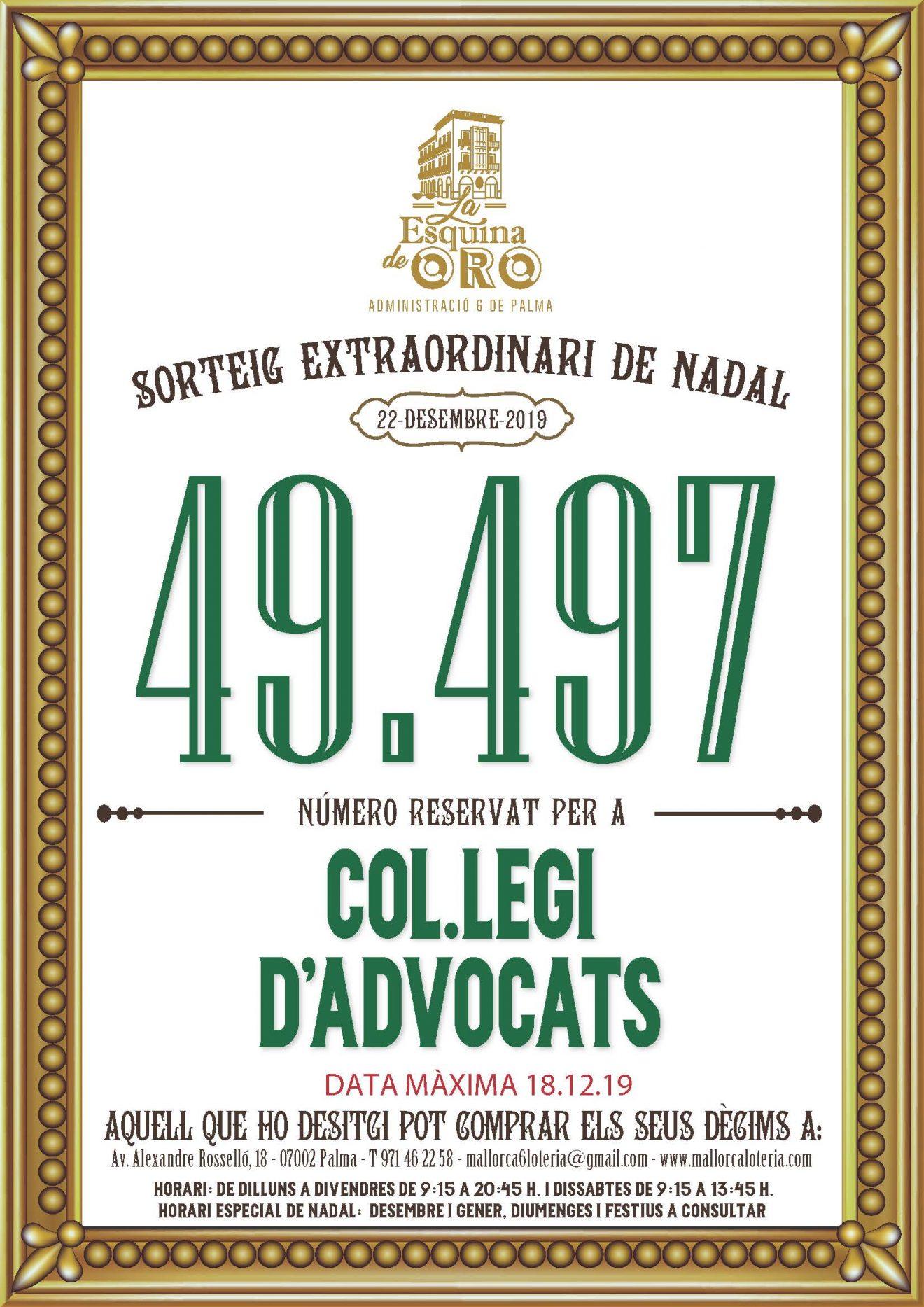 49497, el número de la sort de l'ICAIB