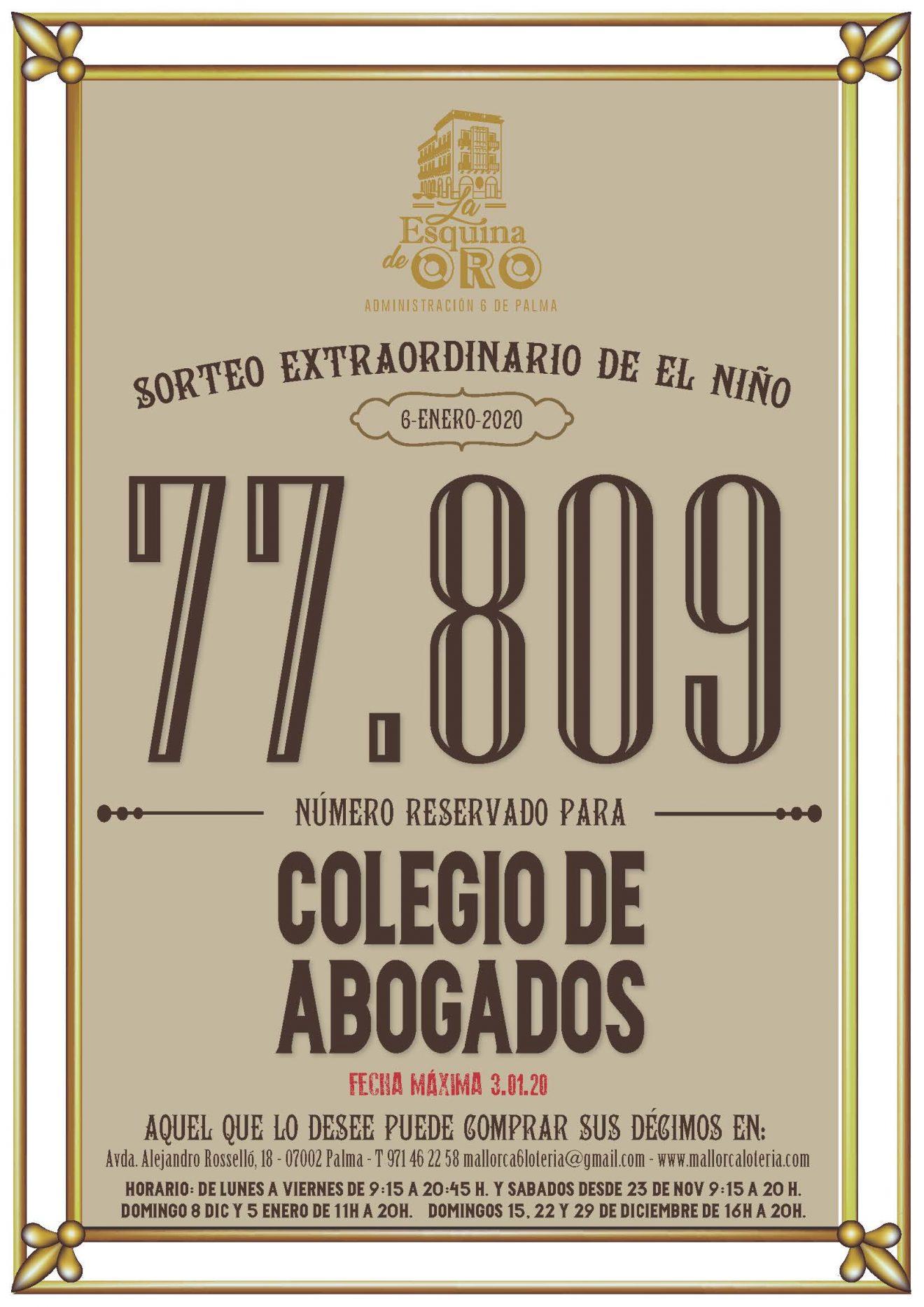 77809, el número del ICAIB para la lotería del Niño
