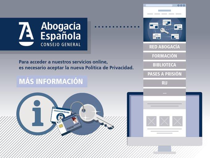 Avís important.- Canvi en l'accés als serveis de l'Advocacia Espanyola. Nou portal i sistema d'accés únic