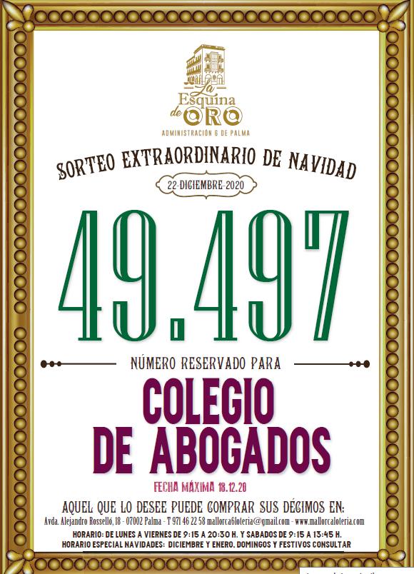 49497, el número de la Lotería de Navidad. ¡Suerte!