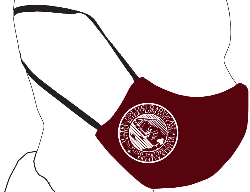 Mascarillas con el logotipo del ICAIB reutilizables