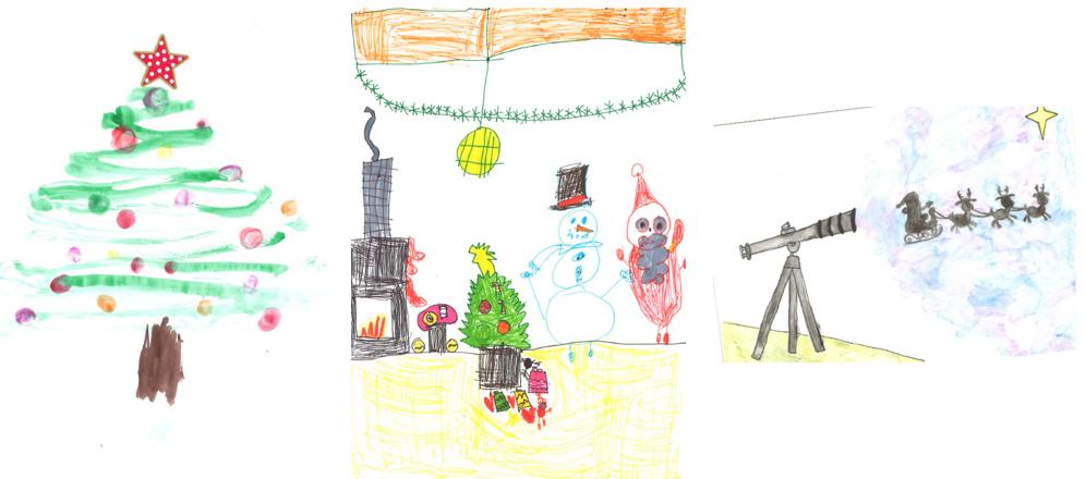 Los dibujos de las niñas Catalina Mascaró Jaume, Martina Torrens Juncosa y Daniela Domínguez felicitarán la navidad del ICAIB