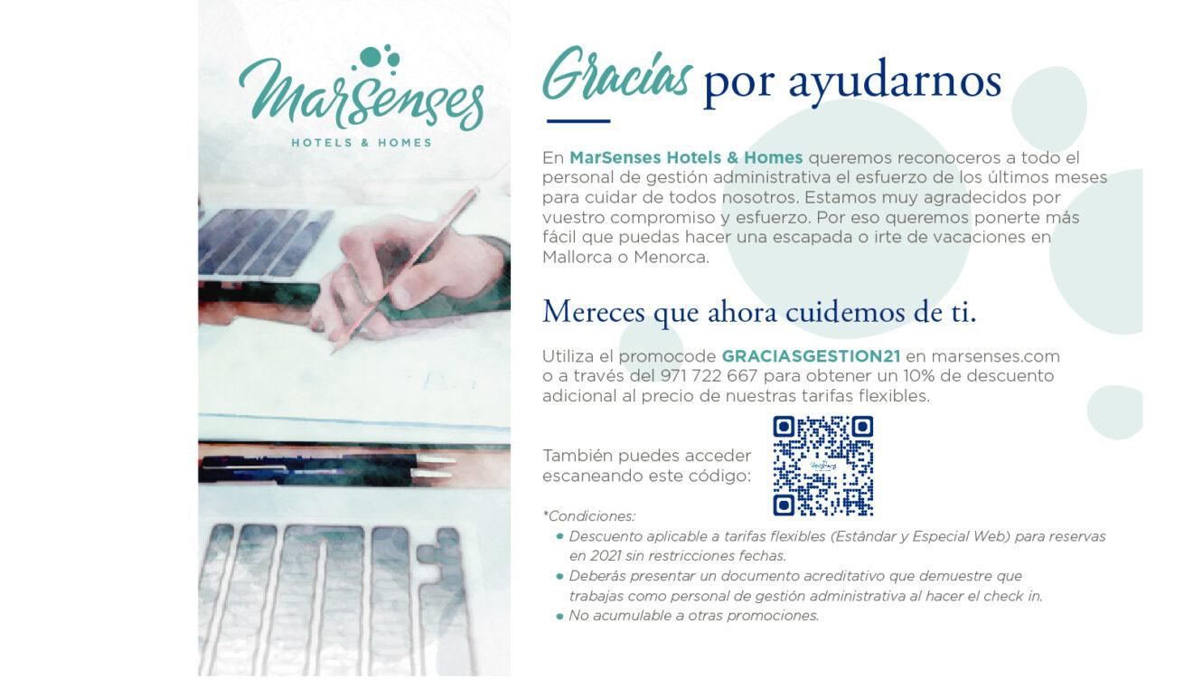 Oferta especial de la cadena hotelera MarSenses